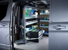 Explore our range of professional and affordable van racking and shelving options, perfect for small businesses. Bott Smartvan – get more out your van. Van Storage, Locker Storage, Van Shelving, Shelves, Mobile Welding, Van Racking, Van Design, 3d Modelle, Cool Vans