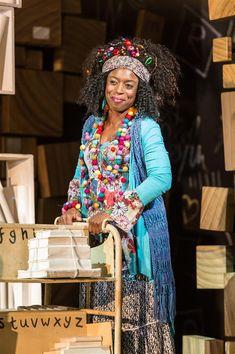 Matilda The Musical - Sharlene Whyte (Mrs Phelps). Matilda Broadway, Broadway Theatre, Musical Theatre, Broadway Shows, Musical London, London Theatre, Librarian Costume, Matilda Costume, Modern Feminism