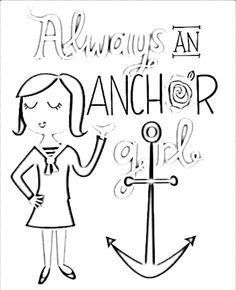 Always An Anchor Girl Coloring Page