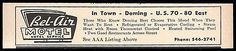 Bel-Air Motel Ad Deming New Mexico 1964 Roadside Ad Travel Route 70 - 80 East