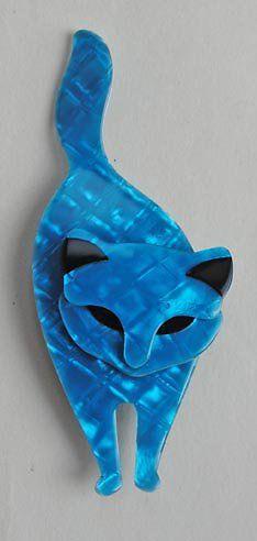 Lea Stein Atilla the Cat brooch