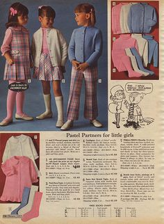 loved these pastel Sears Christmas Catalog 1960s Fashion, London Fashion, Kids Fashion, Vintage Fashion, Fashion Outfits, Fashion Ideas, Winter Fashion, Women's Fashion, Vintage Outfits