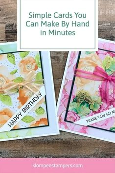 I'm the queen of simple cards that are quick to make! Today I'll show you how to cut designer paper in the most efficient way so that you get a stack of cards out of one 12 x 12 piece of scrapbook paper. These are paper cards you'll fall in love with making—I guarantee it! Birthday Thank You, Diy Birthday, Birthday Cards, Paper Cards, Diy Cards, Card Making Tutorials, Some Cards, Happy Mail, Just Giving