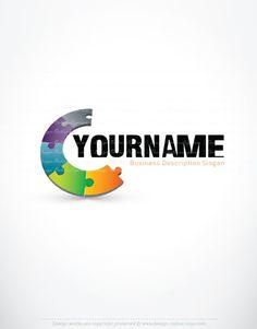 Exclusive Design: 3D Online Puzzle Logo FREE Business Card