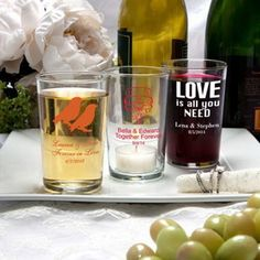 FashionCraft 3427S_Wed Silkscreened Glassware Collection Bistro glasses #wedding