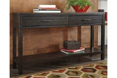 Brown Jazzlyn Sofa/Console Table View 1
