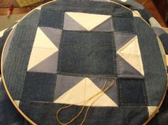 Oh man I LOVE this page.  Fantastic quilts and Tim is so talented.  Very inspiring.  Love this one the most... prolly cuz its DENIM!