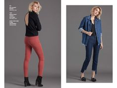 d98ff4aaaf9 Fall Fashion  Ava Skinny in Rouge on left. Gavin Shirt Jacket in Altitude  paired
