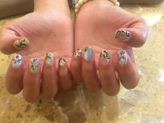 Busy Floral Mood Nails