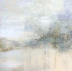 Daily walk by Tonie Rigby, ' I tried to capture the wind in paint.' 33 inches sq. Acrylic on board.Sold.