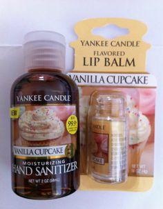 Yankee Candle VANILLA CUPCAKE Hand Sanitiser and Lip Balm RARE VHTF | eBay