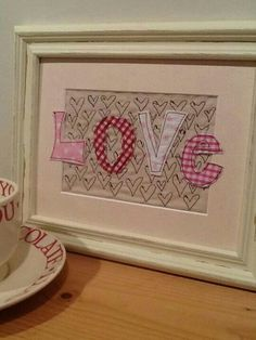 very sweet picture of hearts and love. Embroidery Hearts, Free Motion Embroidery, Embroidery Applique, Embroidery Ideas, Valentine Decorations, Valentine Crafts, Valentines, Freehand Machine Embroidery, Free Machine Embroidery