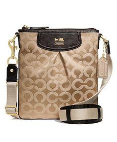 COACH MADISON OP ART SATEEN CLASSIC SWINGPACK - Crossbody & Messenger Bags - Handbags & Accessories - Macy's