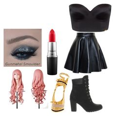 Untitled #6 by scarlero on Polyvore featuring polyvore, fashion, style, MSGM, Ultimo, Timberland, Maria Francesca Pepe and MAC Cosmetics