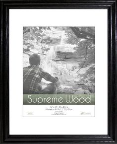 timeless frames 12x16 inch fits 9x12 inch photo supreme solid wood wall frame black timeless