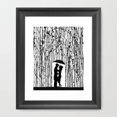 Film Noir Framed Art Print by Marc Allante - $37.00