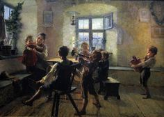 The Children's Concert . 1900 - oil on canvas - cm By George Iakovides ( 1853 - 1932 ) - National Gallery of Art , Athens. National Gallery, National Art, Greek Paintings, Digital Museum, Greek Art, Art Database, Pictures To Paint, Artist Art, Great Artists