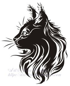 Cat Profile Tribal Tattoo by Avestra on deviantART