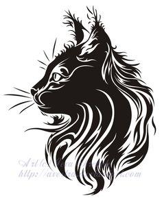 Resultados de la Búsqueda de imágenes de Google de http://th04.deviantart.net/fs27/PRE/i/2013/198/2/0/cat_profile_tribal_tattoo_by_avestra-d...