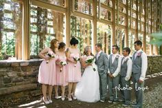 Beautiful blush wedding with Morgan dresses! Thank you ...