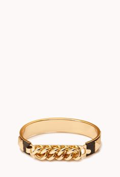 Edgy Curb Chain Bangle | FOREVER21 - 1000051272