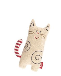 This adorable little kitty is exquisitely soft to hold and so much fun for babies thanks to the built-in rattle. They can easily grasp it with their little hands and they love making the little cat rattle. Sewing Toys, Sewing Crafts, Sewing Projects, Doll Toys, Dolls, Fabric Toys, Cat Doll, Teething Toys, Cat Crafts