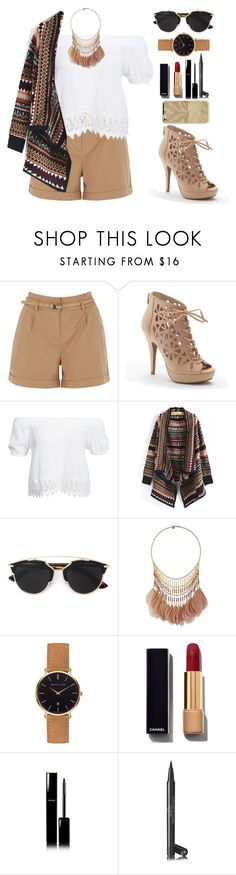 """Sin título #278"" by danny-rv ❤ liked on Polyvore featuring Oasis, Apt. 9, Boohoo, Christian Dior, Miss Selfridge, Abbott Lyon and Chanel"
