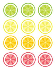 7 Fast And Easy Summer Decorating Ideas For Any Budget! Printable Labels, Printable Stickers, Free Printables, Free Printable Party, Straw Decorations, Fruit Cupcakes, Cupcake Toppers Free, Fruits Images, Tutti Frutti