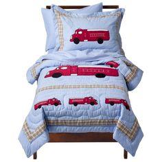 Sweet Jojo Designs Frankie's Fire Truck 5 pc. Toddler Bedding Set