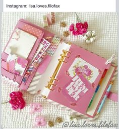 Filofax planner journal ... in pink!