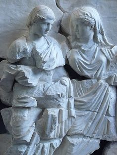 Fragments of the frieze from the Basilica Aemilia in the Roman Forum depicting a nuptial scene. 1st century BC-1st century AD. National Roman Museum, Rome