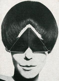 Peggy Moffitt in sunglasses, 1960s (full capsule here: http://www.retronaut.com/2013/03/peggy-moffit) -
