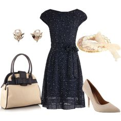 """""""navy and beige"""" by lulums on Polyvore"""