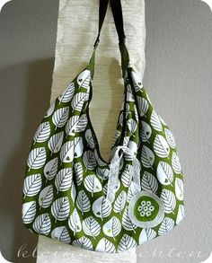 Slouchy Summer Hobo Bag / Flamingo Toes Pattern