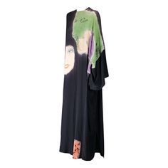 Rare Halston Hand Painted Caftan | From a collection of rare vintage evening dresses at https://www.1stdibs.com/fashion/clothing/evening-dresses/