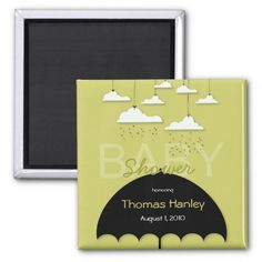 Umbrella Baby Shower Save the Date Magnet Fridge Magnets