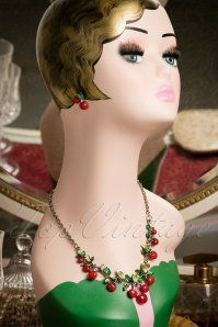 Lola Cherries Necklace Earring set 309 20 17555 12032015 006W