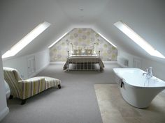 Loft conversion that we want to avoid - don't like this long tunnel feel, not enough head height space.