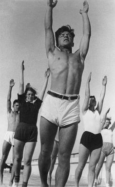 """Morning exercises"" series, student campus in Lefortovo, Moscow, 1932"