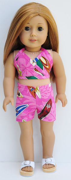 American Girl Clothes  Pink Surfboard by LoriLizGirlsandDolls, $20.00
