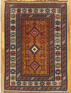 "Shirvan rug,Eastern Caucasus,West Coast of the Caspian Sea,circa 1880.Dimensions of the piece:4'.5""x3'.1"" (135x94 cm). | Hagop Manoyan, New York"