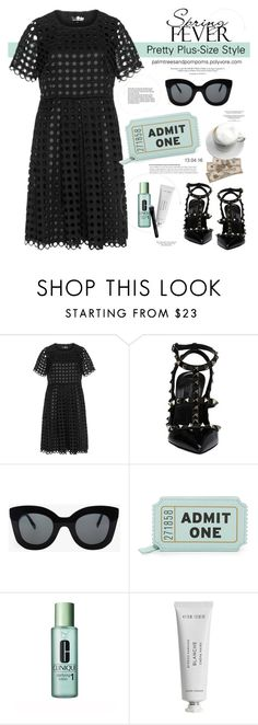 """Spring Date: Pretty Plus-Size Style"" by palmtreesandpompoms ❤ liked on Polyvore featuring Lovedrobe, Valentino, CÉLINE, Kate Spade, Clinique, Byredo, Givenchy and springdate"