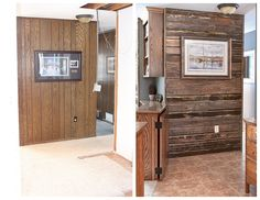 Over 50 years of MN craftsmanship and expertise! Reclaimed Wood Accent Wall, Wood Wall, Lake Resort, Walkway, Cabins, Home Remodeling, Seal, Tile, Entryway