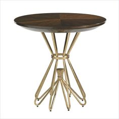 Crestaire-Milo Round Lamp Table in Porter - 436-15-14