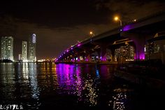 Macarthur Causeway at night - MacArthur Causeway - Wikipedia, the free encyclopedia