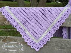 Baby Girl Blanket Crochet Pattern Ava Grace PDF 254