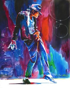Michael Jackson Action Painting by David Lloyd Glover - Michael Jackson Action Fine Art Prints and Posters for Sale
