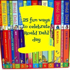 Foods, Activities and Crafts To Celebrate Roald Dahl Day - My School Library - Celebration Matilda Roald Dahl, Roald Dahl Day, Roald Dahl Activities, Library Activities, Reading Activities, Roald Dalh, The Twits, Fantastic Mr Fox, Library Lessons