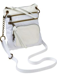 Old Navy Three-Zip Canvas Cross-Body Bags(This is so cute)