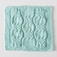 Free Knotted Cables Dishcloth pattern from KnitPicks.com